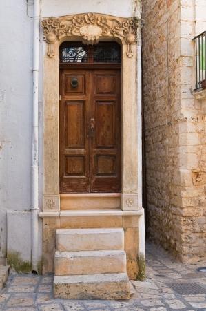 conversano: Wooden door. Conversano. Puglia. Italy.