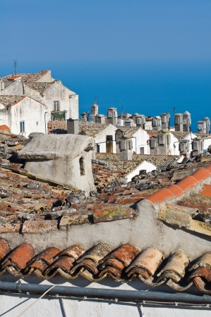 rooftile: Panoramic view of Monte SantAngelo  Puglia  Italy  Stock Photo