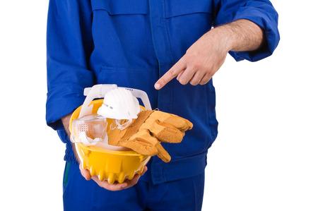 Blue collar worker.  photo