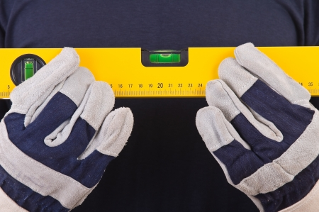 safety gloves: Blue collar worker.