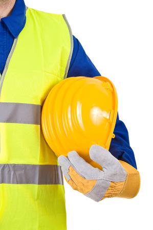health safety: Trabajador de cuello azul