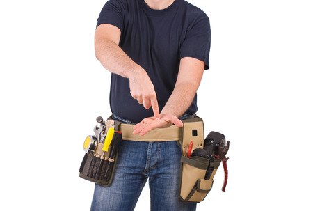 Blue collar worker   photo