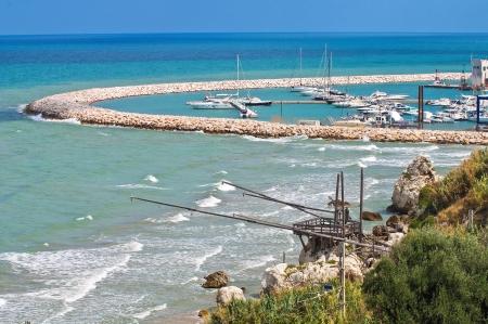 rodi: Panoramic view of Rodi Garganico. Puglia. Italy.  Stock Photo