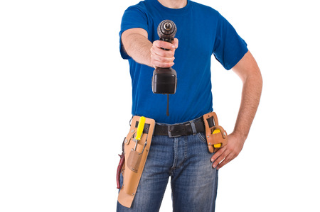 Blue collar worker. photo