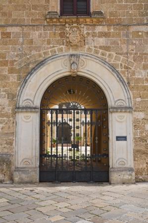 episcopal: Episcopal palace. Ugento. Puglia. Italy.