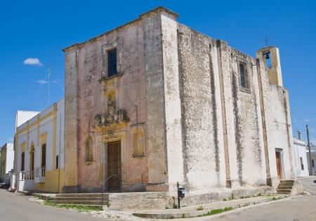 immaculate: Iglesia de la Inmaculada. Felline. Puglia. Italia.