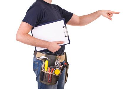 gestural: Blue collar worker.
