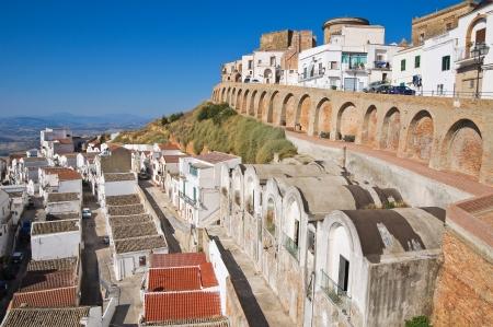 Panoramic view of Pisticci. Basilicata. Italy.  photo