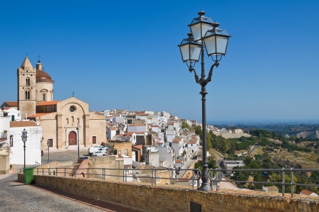 Panoramic view of Pisticci. Basilicata. Italy. photo