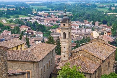 Panoramic view of CastellArquato. Emilia-Romagna. Italy. photo