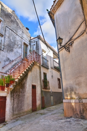 foggia: Alleyway. Ischitella. Puglia. Italy.  Stock Photo