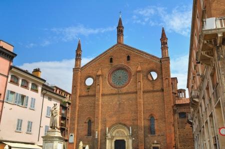 piacenza: San Francisco Iglesia. Piacenza. Emilia-Roma�a. Italia.