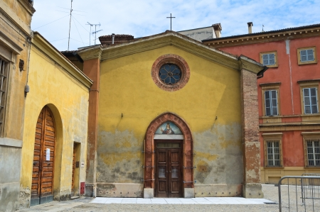 piacenza: Santa Mar�a en Cortina iglesia. Piacenza. Emilia-Roma�a. Italia. Foto de archivo