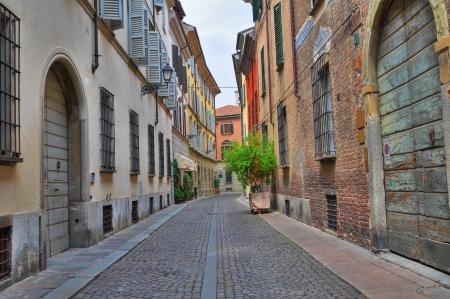 Alleyway. Piacenza. Emilia-Romagna. Italy. Stock Photo