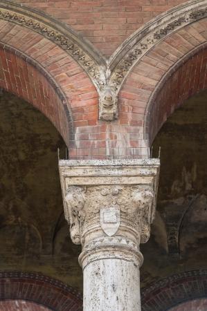 gotico: Ayuntamiento. Piacenza. Emilia-Roma�a. Italia. Foto de archivo