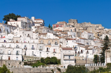 gargano: Panoramic view of Monte Sant-Angelo in Puglia, Italy  Stock Photo