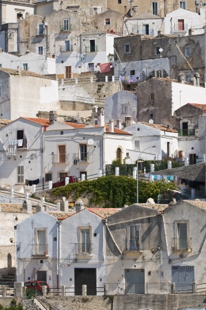 monte sant angelo: Panoramic view of Monte Sant Angelo in Puglia, Italy  Stock Photo