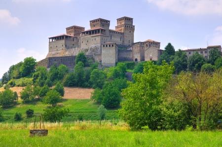 bulwark: Castle of Torrechiara in Emilia-Romagna, Italy