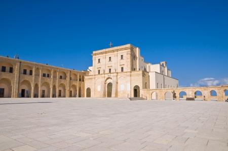 portico: Sanctuary of Santa Maria di Leuca  Puglia  Italy   Stock Photo
