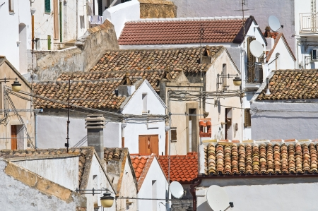 rooftile: Panoramic view of Pisticci. Basilicata. Italy. Stock Photo