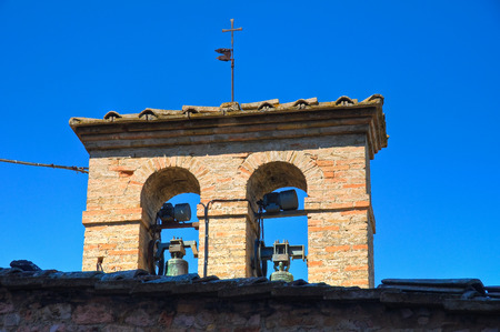 rooftile: Historical church of Assisi. umbria. Italy.