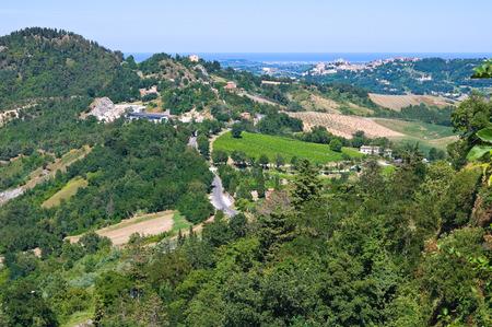emilia romagna: View of Montebello. Emilia- Romagna. Italy.