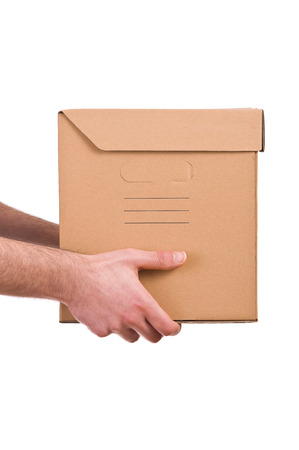 shipper: Delivery man hold a box
