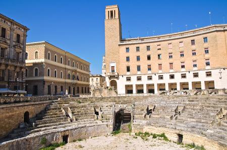puglia: Amphitheatre  Lecce  Puglia  Italy  Stock Photo