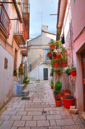 rotondo: Alleyway. San Giovanni Rotondo. Puglia. Italy. Stock Photo