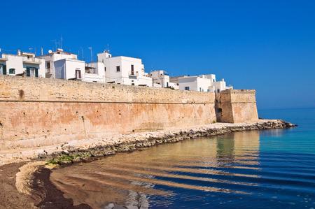 fortified wall: Fortified wall. Monopoli. Puglia. Italy.
