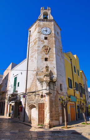 puglia: Clocktower. Monopoli. Puglia. Italy.