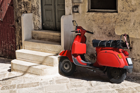 Alleyway. Monopoli. Puglia. Italy.  photo