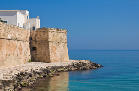 fortified wall: Fortified wall. Monopoli. Puglia. Italy.