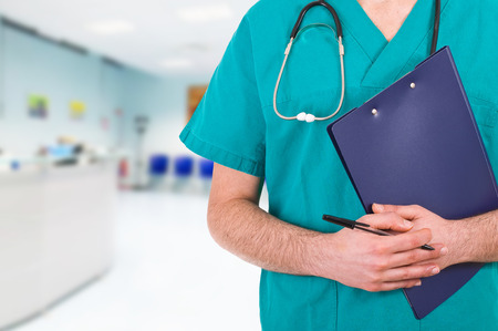 waiting room: Medical doctor. Stock Photo