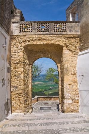 ポルタ ・聖アンジェロ。Montescaglioso。バジリカータ州。イタリア。 写真素材