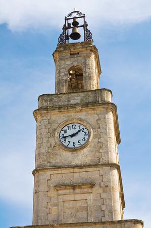clocktower: Clocktower. Ginosa. Puglia. Italy. Stock Photo