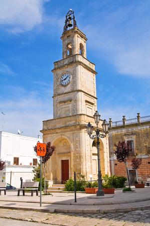 puglia: Clocktower. Ginosa. Puglia. Italy. Stock Photo