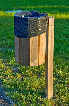 recycle area: Waste bin  Stock Photo