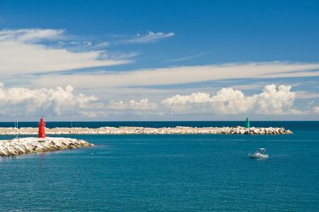 Panoramic view of Trani. Puglia. Italy. photo