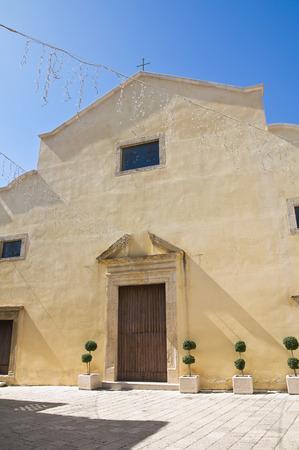 lucania: Mother Church of Genzano di Lucania. Italy.
