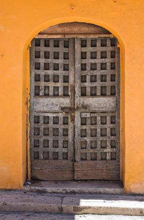 foggia: Wooden door. San Severo. Puglia. Italy.