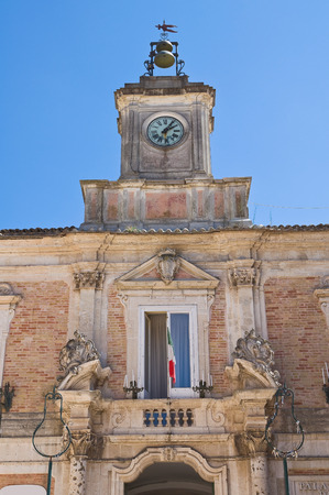 urbanistic: Town Hall Building. San Severo. Puglia. Italy. Stock Photo