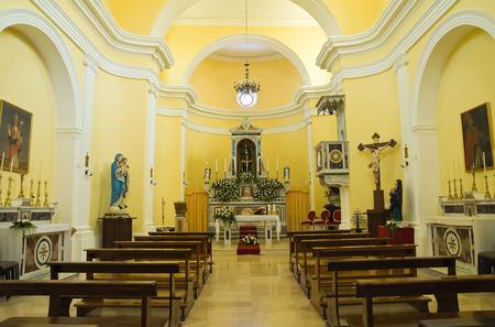 francesco: Church of St. Francesco Viggianello, Basilicata.  Editorial