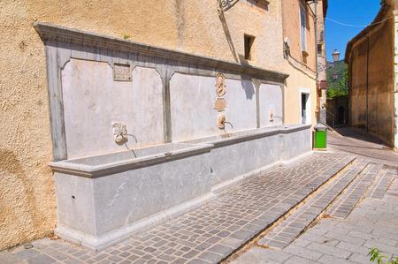 monumental: Monumental fountain. Morano Calabro. Calabria. Italy.