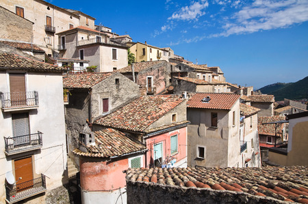 Panoramic view of Morano Calabro. Calabria. Italy. photo
