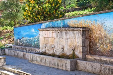 lucania: Monumental fountain. Satriano di Lucania. Italy.
