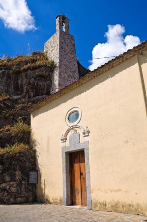 lucania: Church of Madonna della Rocca. Satriano di Lucania. Italy.