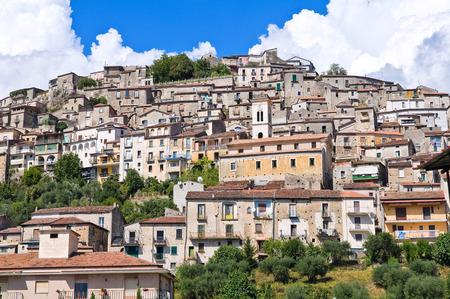 Panoramic view of Padula. Campania. Italy.