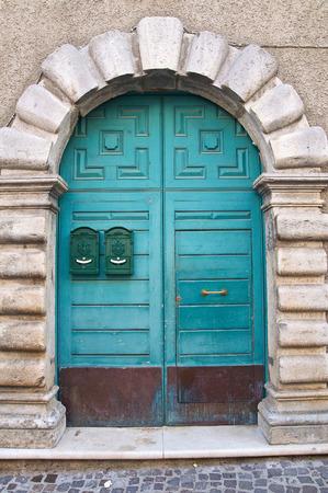 lucania: Wooden door. Satriano di Lucania. Italy.