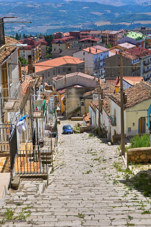rooftile: Panoramic view of Acerenza. Basilicata. Italy. Stock Photo
